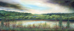 North Saskatchewan at Rossdale original oil painting by Richard Dixon