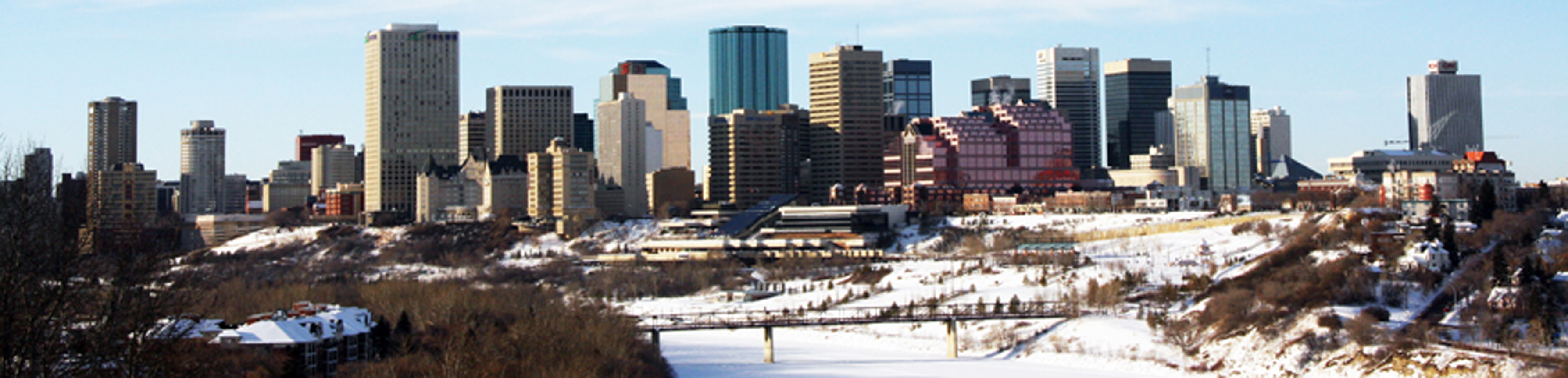 Edmonton Alberta Winter Skyline Photo